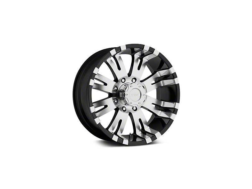 Pro Comp Alloy Series 01 Gloss Black Machined Wheels (07-18 Jeep Wrangler JK; 2018 Jeep Wrangler JL)