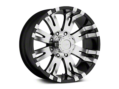 Pro Comp Alloy Series 01 Gloss Black Machined Wheels (07-18 Wrangler JK; 2018 Wrangler JL)