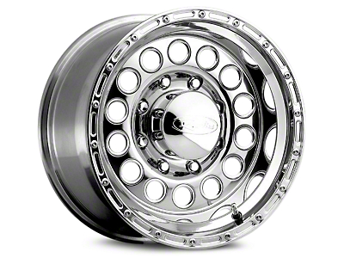 Raceline 887 Rockcrusher Polished Wheels (07-18 Wrangler JK; 2018 Wrangler JL)
