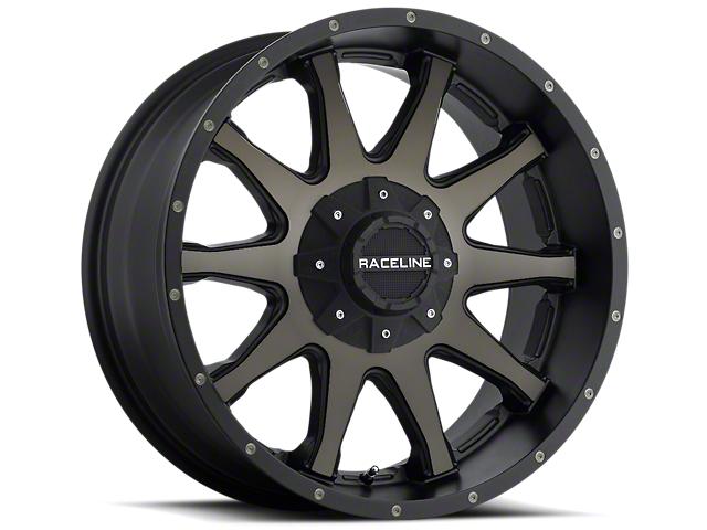 Raceline 930DM Shift Black Machined w/ Dark Tint Wheels (07-18 Wrangler JK; 2018 Wrangler JL)