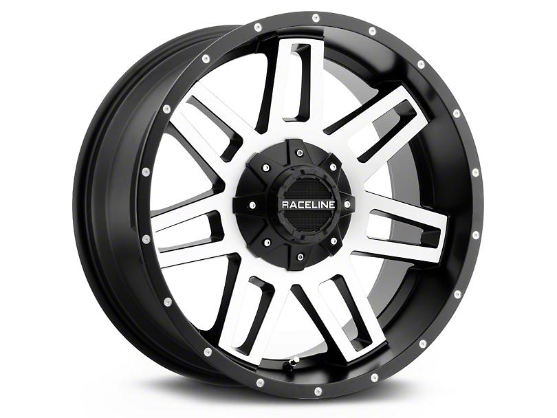 Raceline 931M Injector Black Machined Wheels (07-18 Wrangler JK)