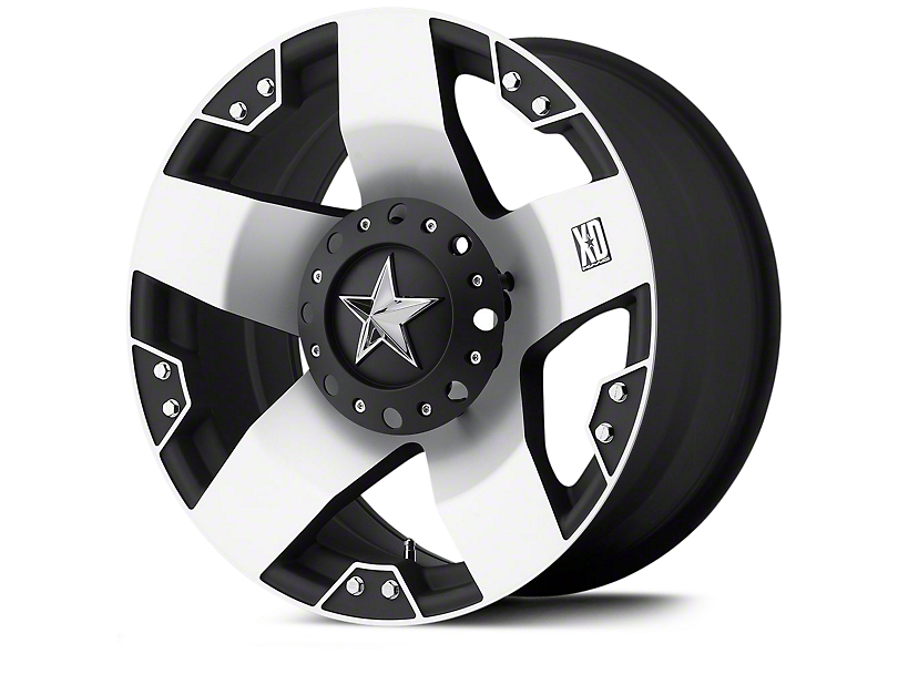 Rockstar XD775 Black Machined Wheels (07-18 Wrangler JK; 2018 Wrangler JL)