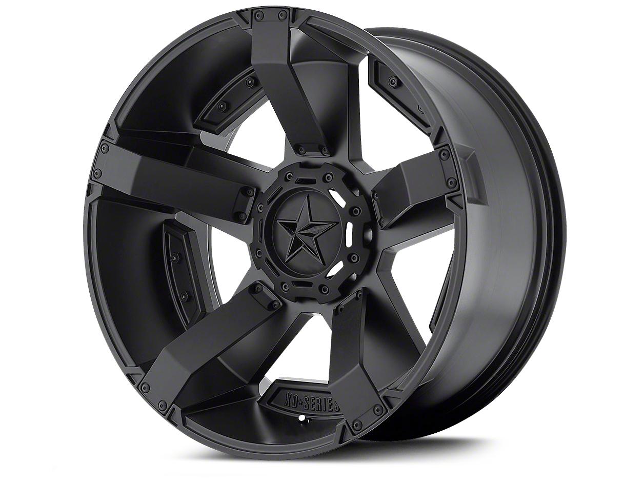 Rockstar XD811 RS2 Satin Black Wheels (07-18 Wrangler JK; 2018 Wrangler JL)