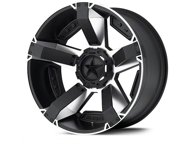 Rockstar XD811 RS2 Black Machined Wheels (07-18 Wrangler JK)