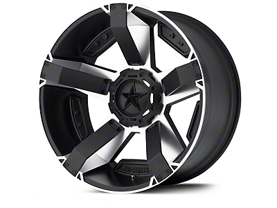 Rockstar XD811 RS2 Black Machined Wheels (07-18 Wrangler JK; 2018 Wrangler JL)