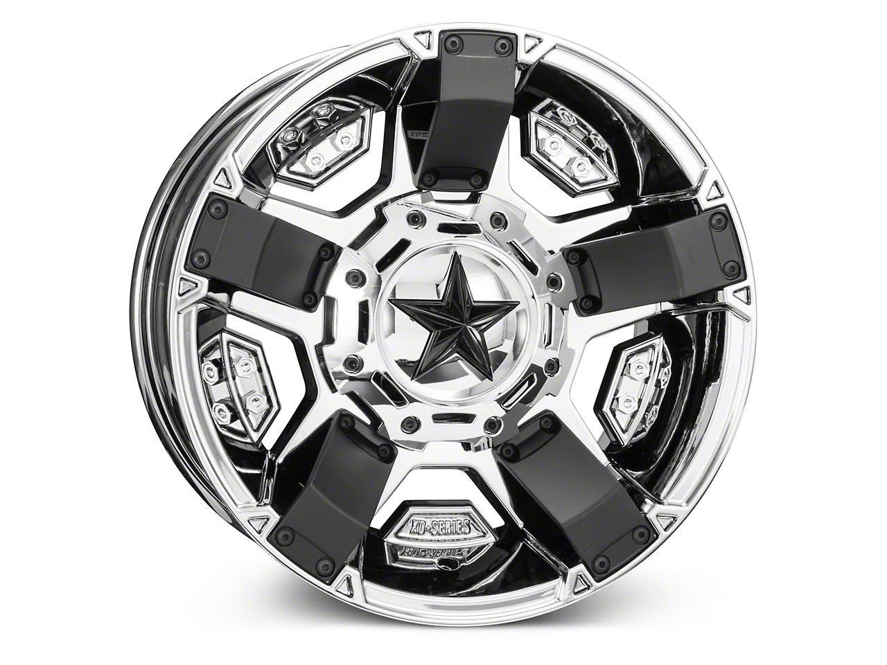 Rockstar XD811 RS2 PVD Chrome Wheels (07-18 Wrangler JK; 2018 Wrangler JL)