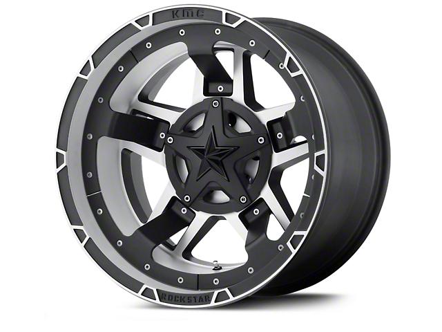 Rockstar XD827 RS3 Black Machined Wheels (07-18 Wrangler JK)