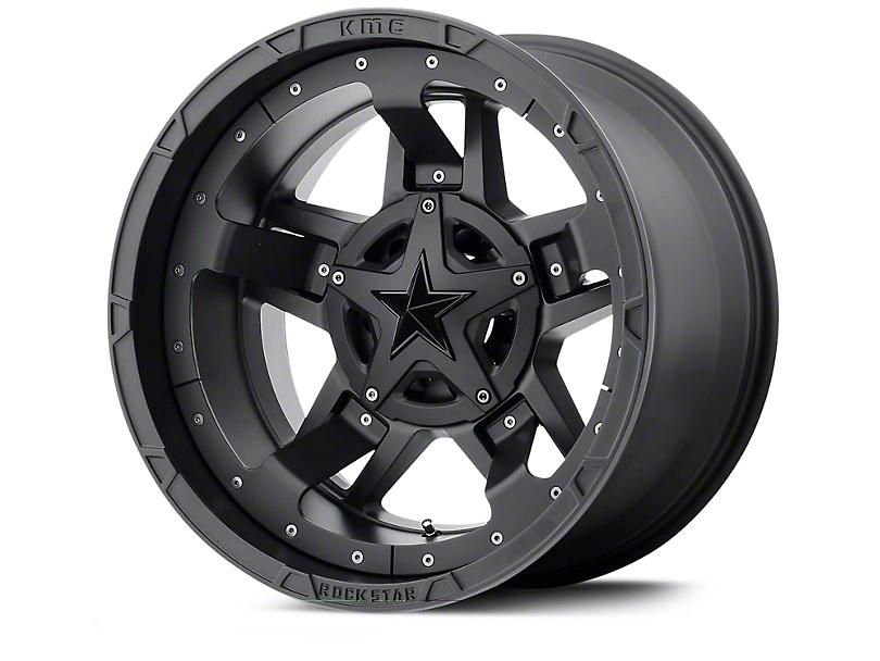 Rockstar XD827 RS3 Matte Black Wheels (07-18 Jeep Wrangler JK; 2018 Jeep Wrangler JL)