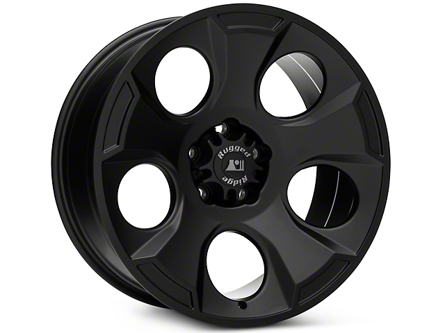 Rugged Ridge Drakon Satin Black Wheels (07-18 Wrangler JK; 2018 Wrangler JL)