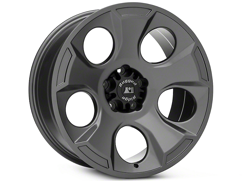 Rockstar Rugged Ridge Drakon Gun Metal Wheels (07-18 Wrangler JK)