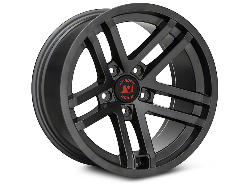 Rugged Ridge Jesse Spade Black Wheels (07-18 Wrangler JK; 2018 Wrangler JL)