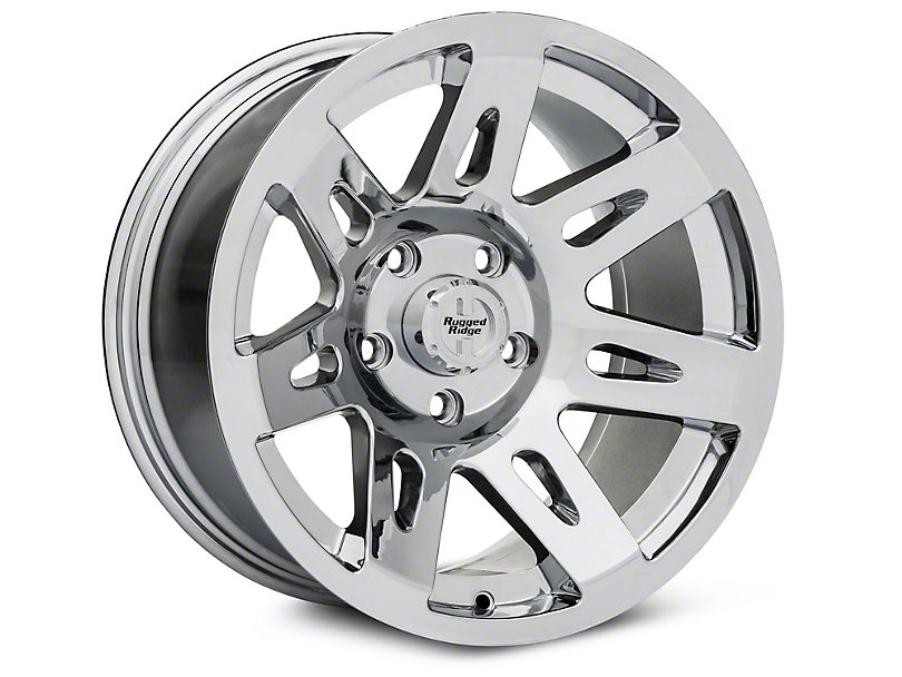 Rugged Ridge XHD Aluminum Chrome Wheels (07-18 Wrangler JK; 2018 Wrangler JL)