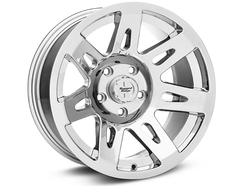 Rugged Ridge Aluminum Silver Wheels (07-18 Wrangler JK; 2018 Wrangler JL)