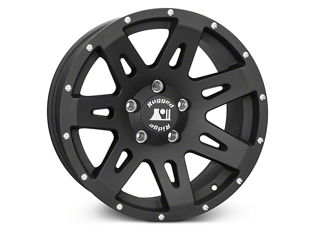 Rugged Ridge XHD Black Wheels (07-18 Wrangler JK; 2018 Wrangler JL)