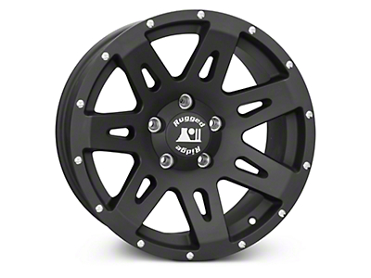 Rugged Ridge XHD Satin Black Wheels (07-18 Jeep Wrangler JK; 2018 Jeep Wrangler JL)