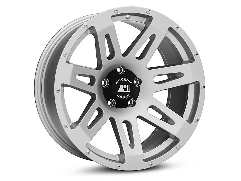 Rugged Ridge XHD Silver Wheels (07-18 Wrangler JK; 2018 Wrangler JL)