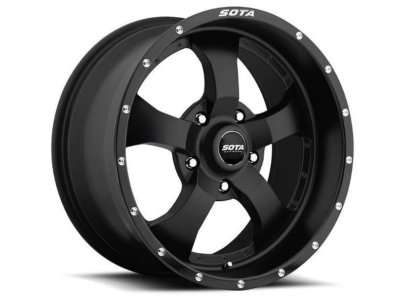 SOTA Off Road Novakane Black Wheels (07-18 Wrangler JK; 2018 Wrangler JL)