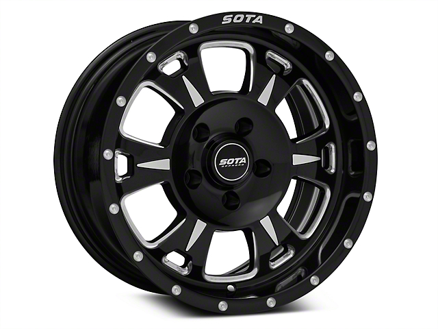 SOTA Off Road M-80 Death Metal Wheels (07-18 Wrangler JK; 2018 Wrangler JL)