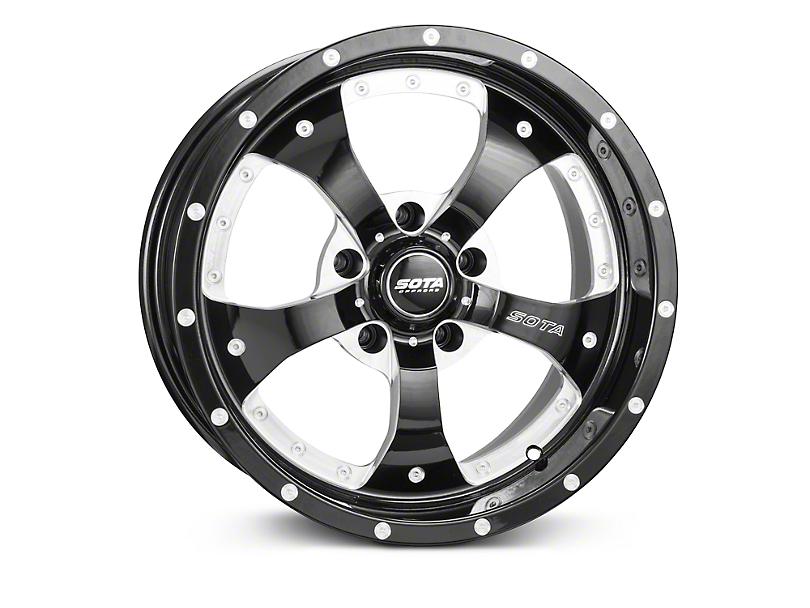 SOTA Off Road Novakane Black Machined Wheels (07-18 Wrangler JK)