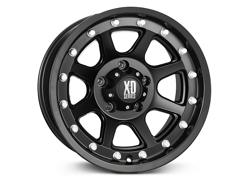 XD Addict Matte Black Wheels (07-18 Jeep Wrangler JK; 2018 Jeep Wrangler JL)