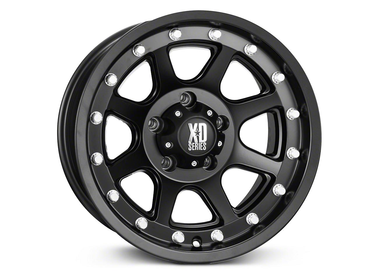 XD Addict Matte Black Wheels (07-18 Wrangler JK; 2018 Wrangler JL)