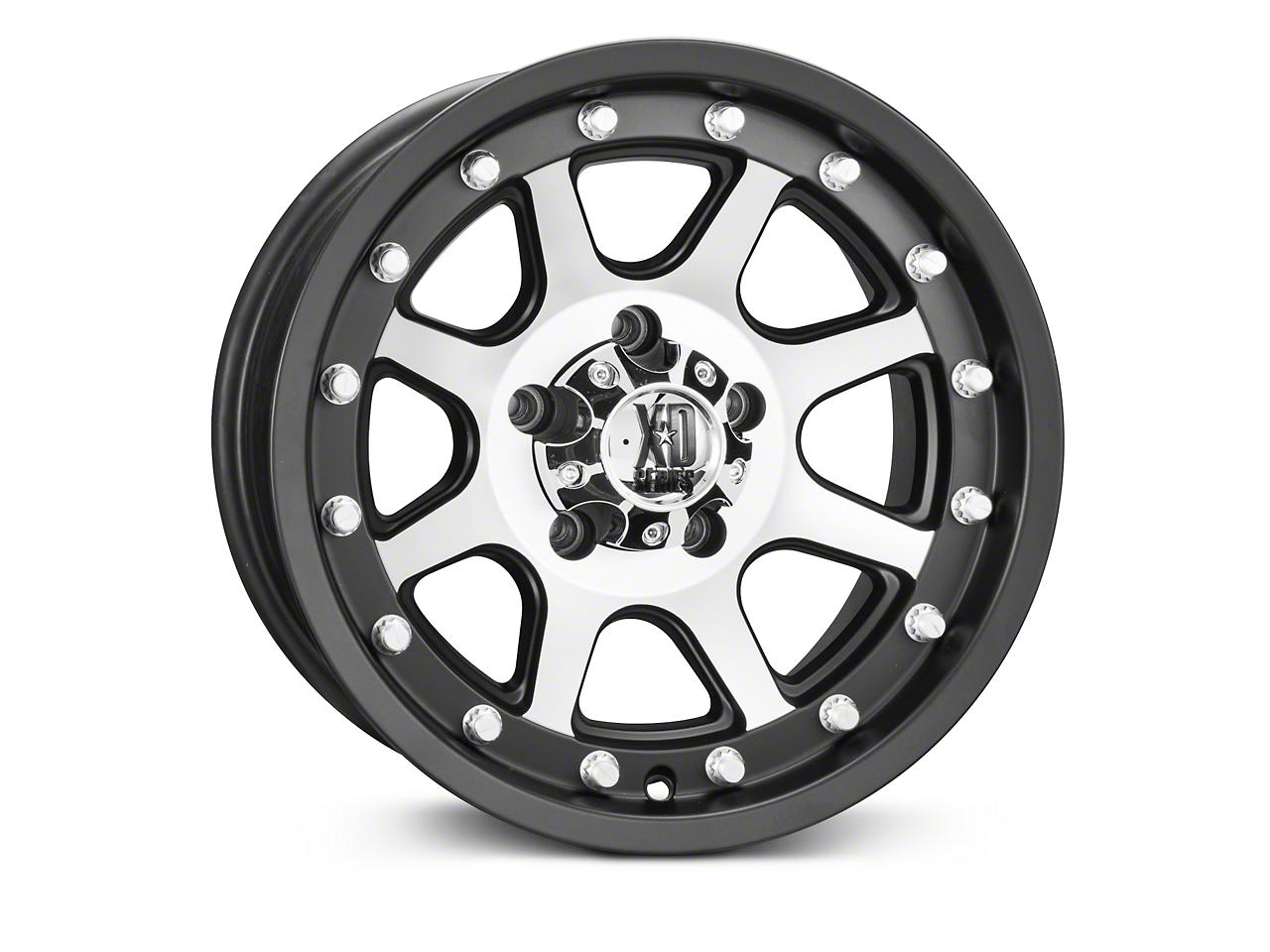 XD Addict Matte Black Machined Wheels (07-18 Wrangler JK; 2018 Wrangler JL)