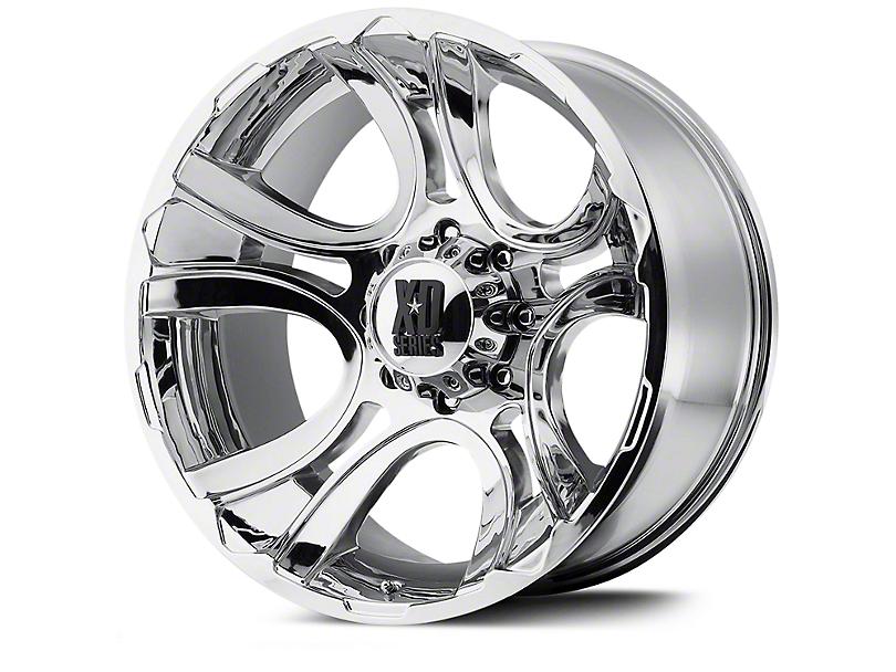 XD Crank Chrome Wheels (07-18 Wrangler JK; 2018 Wrangler JL)