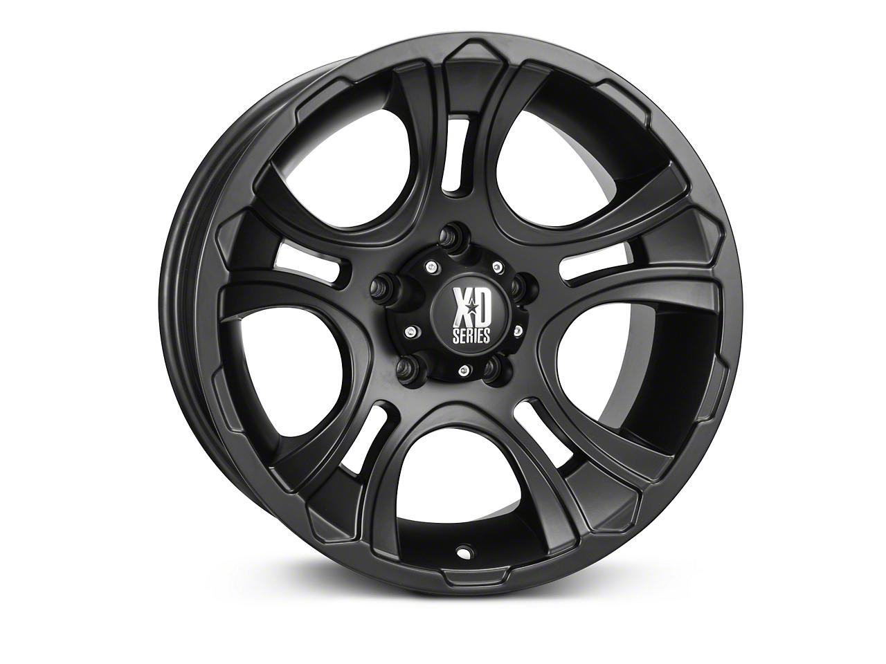 XD Crank Matte Black Wheels (07-18 Wrangler JK; 2018 Wrangler JL)