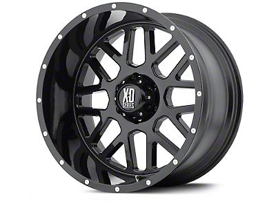 XD Grenade Satin Black Wheels (07-18 Jeep Wrangler JK; 2018 Jeep Wrangler JL)