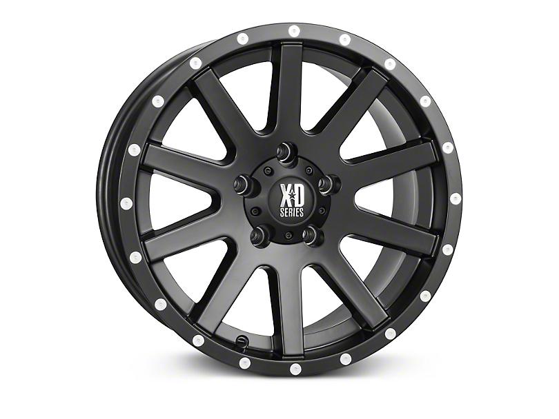XD Heist Satin Black Wheels (07-18 Wrangler JK; 2018 Wrangler JL)
