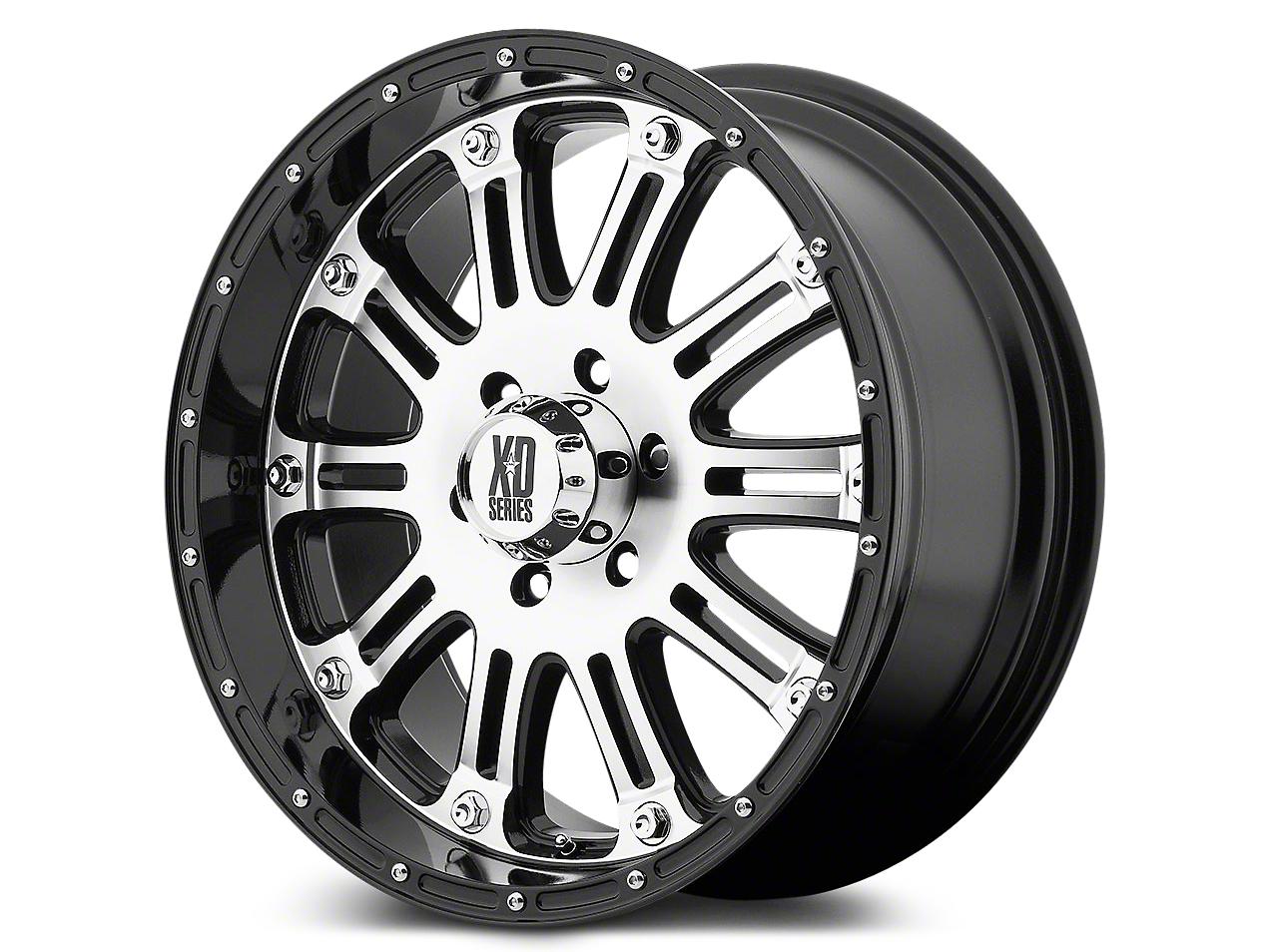 XD Hoss Gloss Black w/ Machined Face Wheels (07-18 Wrangler JK; 2018 Wrangler JL)