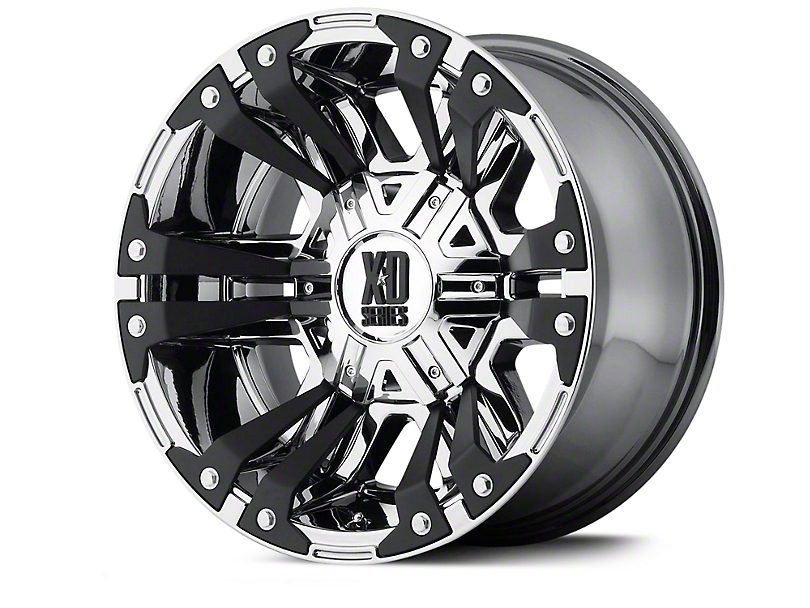 XD Monster II Chrome Wheels (07-18 Jeep Wrangler JK; 2018 Jeep Wrangler JL)