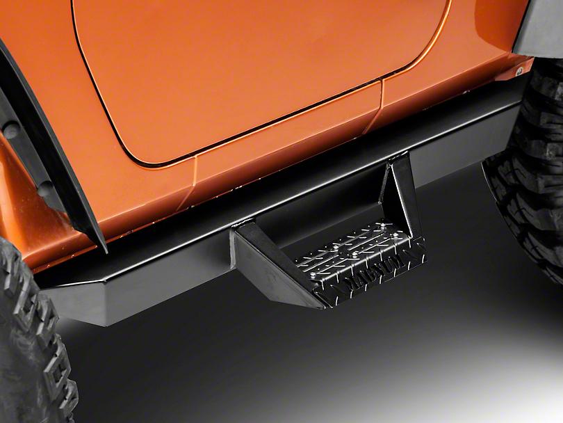 ICI Magnum RT Cab Length Side Steps - Black (07-18 Wrangler JK 2 Door)