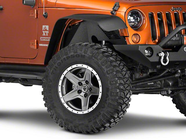 Barricade Aluminum Inner Fender Liner - Textured Black (07-18 Jeep Wrangler JK)