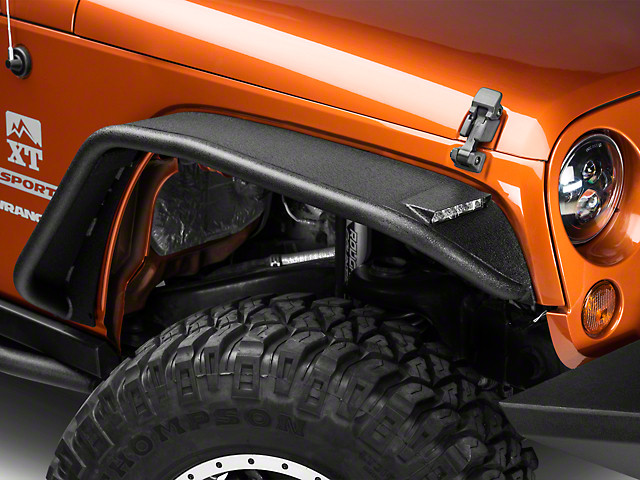 Barricade Tubular Fender Flares w/ LED Lighting (07-18 Wrangler JK)