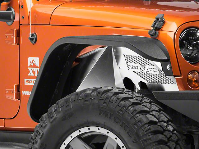 DV8 Off-Road Aluminum Inner Fender Flares - Raw (07-18 Jeep Wrangler JK)