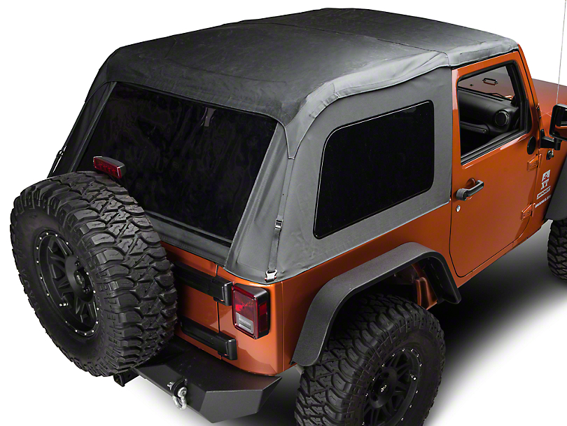 TruShield Fastback 2-in-1 Soft Top - Black Diamond (07-18 Jeep Wrangler JK 2 Door)