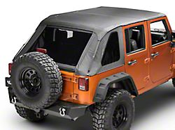RedRock 4x4 Fastback 2-in-1 Soft Top; Black Diamond (07-18 Jeep Wrangler JK 4 Door)