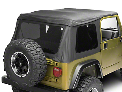 TruShield Frameless 2-in-1 Soft Top - Black Diamond (97-06 Wrangler TJ, Excluding Unlimited)