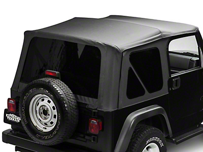 TruShield Replacement Soft Top w/ Tinted Windows - Black Diamond (97-06 Jeep Wrangler TJ, Excluding Unlimited)