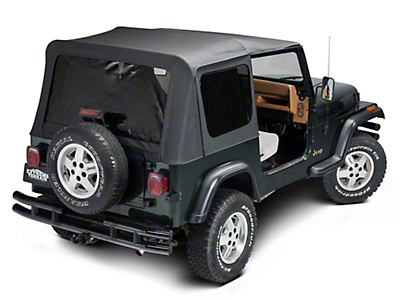 TruShield Replacement Soft Top w/ Tinted Windows & Upper Doors - Black Diamond (87-95 Wrangler YJ)