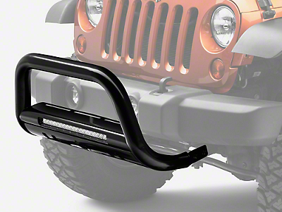 Black Horse Off Road Beacon LED Bull Bar - Black (07-18 Wrangler JK)