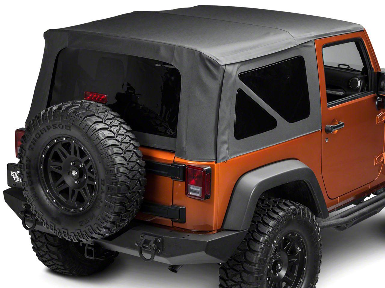 TruShield Replacement Soft Top w/ Tinted Windows - Black Diamond (07-09 Jeep Wrangler JK 2 Door)