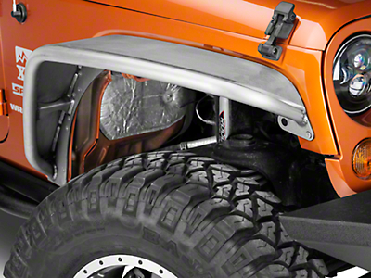 Poison Spyder Standard Width Crusher Fender Flares - Bare Steel (07-18 Jeep Wrangler JK)