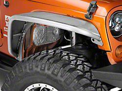Poison Spyder Crusher Fender Flares; Standard Width; Front; Bare Steel (07-18 Jeep Wrangler JK)