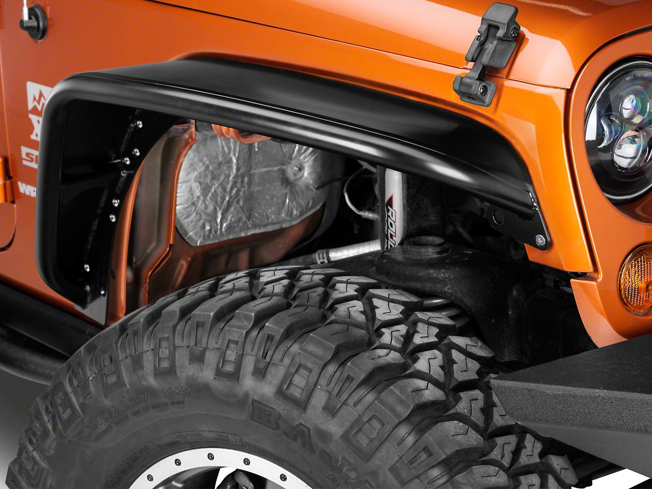 Poison Spyder Standard Width Crusher Fender Flares - SpyderShell Armor Coat (07-18 Jeep Wrangler JK)