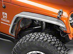 Poison Spyder Crusher Fender Flares; Standard Width; Rear; Bare Steel (07-18 Jeep Wrangler JK)
