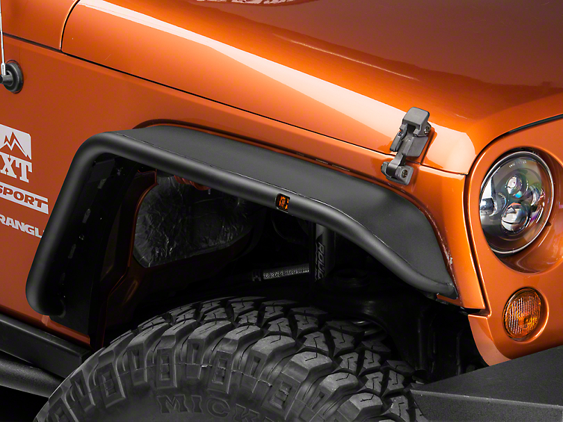 Snyper Tubular Fender Flares - Textured Black (07-18 Jeep Wrangler JK)