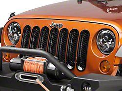 Rugged Ridge Mesh Grille Inserts - Black (07-18 Jeep Wrangler JK; Excluding Sahara)
