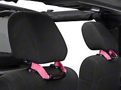 Rugged Ridge Seat Mount Grab Handles - Pink (07-18 Jeep Wrangler JK)